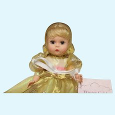 "MA 8 inch doll, NRFB, golden dress-""Winter Gold"" - 2002 doll but MINT!"