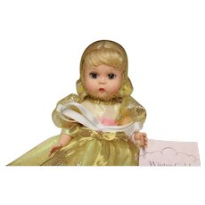 """MA 8 inch doll, NRFB, golden dress-""""Winter Gold"""" - 2002 doll but MINT!"""