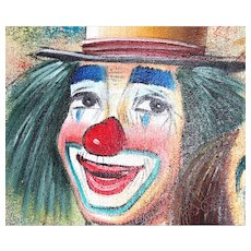Clown painting21 x 25 inches- by Bob Kelley-Large in wooden frame
