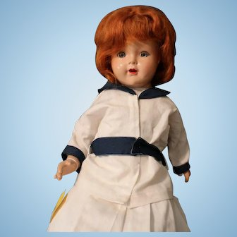 Madame Alexander Princess Elizabeth composition, large doll/red hair and blue eyes.