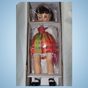 "Effanbee ""Pretty in Plaid"" reproduction of past popular Toni Doll"