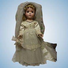 Madame Alexander Margaret bride doll in original bridal gown