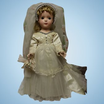 Madame Alexander Margaret bride doll in original bridal gown