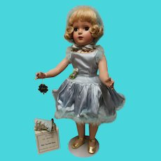 MA Babs Ice Skater, 1948, Candy Spelling collection,  blue satin outfit/original /and spare skates in box