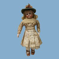 """Reduced ...ABG, 13"""" doll, closed mouth, open dome with blonde wig - very nice!"""