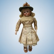 """ABG, 13"""" doll, closed mouth, open dome with blonde wig - very nice!"""