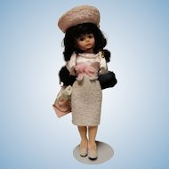 "Madame Alexander ""Classic Jackie "" 9 1/2 inch doll in original box-early doll"