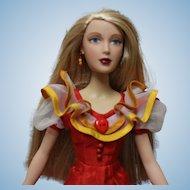 Madame Alexander doll in red dress by Mel Odem