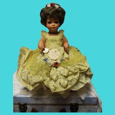 Alberani-Milano-Italian Hard Plastic doll - 16 inches - Perfect-outstanding early costume