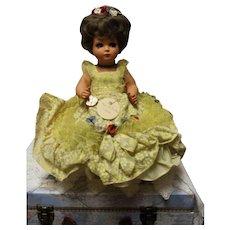 Italian Hard Plastic doll -ALBERANI-Vecchiotti-Milano - 16 inch - Perfect