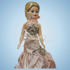 "Madame Alexander 1st Coquette Doll in original box-9""-elaborate dress!"