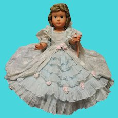 """Athena hard plastic 17"""" doll in excellent gown"""