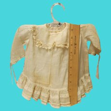 Vintage Looking baby doll dress....off white.