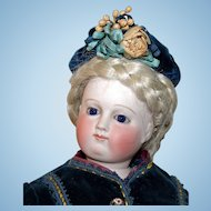 """""""Early"""" Antique doll /French Fashion poupee - 18"""" - elaborate dress-mint condition"""