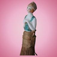 Porcelain lady brush, 1920' Flapper style
