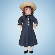 Simon Halbig 1079 Antique Doll-19 inch-orig. body paint- in blue wool sailor costume