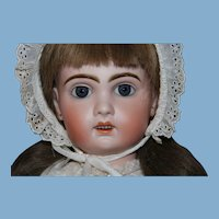 """Jumeau Doll with head marked """"10"""" and length of doll is  24 """", with open mouth, original body, excellent bisque"""
