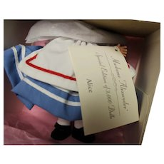 ALICE doll by Madame Alexander - about 7 inches - new in box