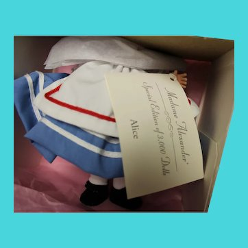 """ALICE doll, 7 inches, by Madame Alexander - new in box- so """"cute"""""""