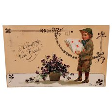 Post Card postmarked 1907 - New Years card