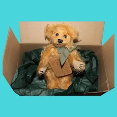 Mary Meyers Mohair Collection Bear in original box-stands near 5.5 inches