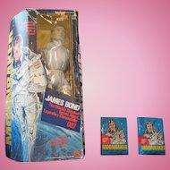 Moonraker doll and packs of cards 1978 Mego corporation James Bond