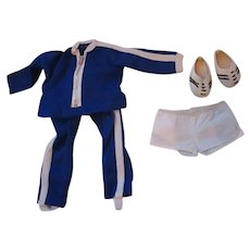 Sasha doll clothing exercise jogging suit with shoes Track suit