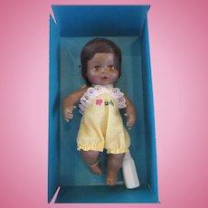 HORSMAN Vintage Lively Baby Softskin black doll in original box