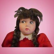 Lenci comical doll in original box 1980's paperwork too