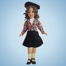 "Vintage 1930's Composition Deanna Durbin all original doll 20"""