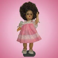 "Tiny Terri Lee doll 1950 10.5"" with WILD HAIR vintage doll"