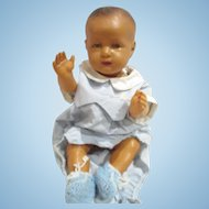 Vintage France Celluloid Baby doll  Large size