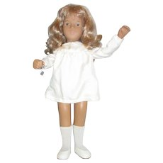 Honey Blonde Sasha doll with original silk dress and hang tag in box