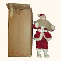 1963 Velvet Suit Harold GALE Santa Claus doll figurine in original box Wonderful Vintage  mache face