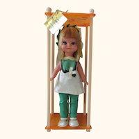Vintage Fun World doll original case WINNIE doll pixie big eyes Mod Blythe era