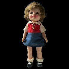 "Effanbee Bluebird Campfire Girl 8"" Scouting doll all original 1965 Fluffy"