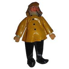 Very Old seafarer Captain fisherman sea cloth doll