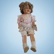 Vintage-1930s-doll-Composition-Possible-Shirley-Temple-28-034-unmarked-repaired