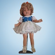 "Old 17"" Shirley Temple Composition doll marked on back !"