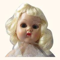 1950's molded lash Ginny walker doll in original ballerina outfit super platinum blonde