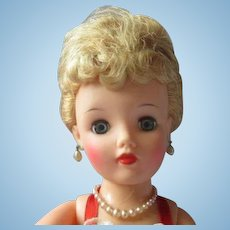 """Gorgeous Platinum Blonde Miss Revlon 18"""" doll in beautiful gown high color"""
