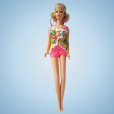 TNT Francie Blond Model No.1170 1969 Vintage Mattel Inc. Flip Hair Barbie JPN