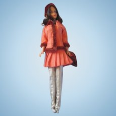 Vintage Barbie Brunette Marlo Flip with #1486 Winter Wow outfit - Excellent