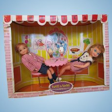 Boxed Tutti and Todd Sundae Treat  #3556 playset Barbie twins they ate too much!