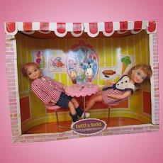 Vintage Tutti and Todd Sundae Treat  #3556 playset Barbie twins