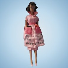 Vintage Midge doll in pink blouse skirt and Baby Sitter apron 1961-1964  #953