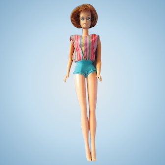 TNT American Girl Barbie with Titian Hair in original swimsuit pretty 1965