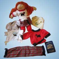 CPK doll Cabbage PatchScotland clothing extras scottie dog T-shirts, passport