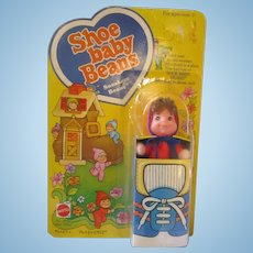 Shoe Baby Beans SNEAKERS BEANS by Mattel 1978 MIP Old woman theme doll