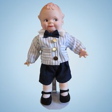 Adorable Scootles doll rubber doll Cameo Jesco in box prim proper outfit shoes
